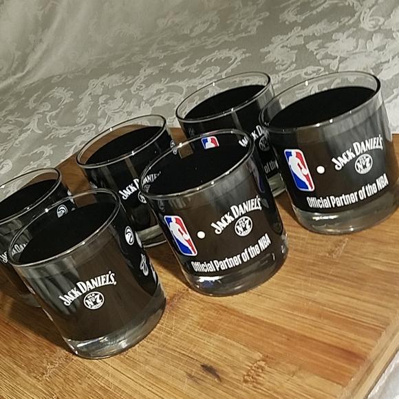 Other - Set of 6 NBA Jack Daniel's Short Glasses